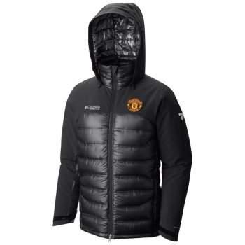 3572739f36d72a Kurtka męska Columbia Heatzone 1000 TurboDown Hooded Jacket Manchester  United-Black