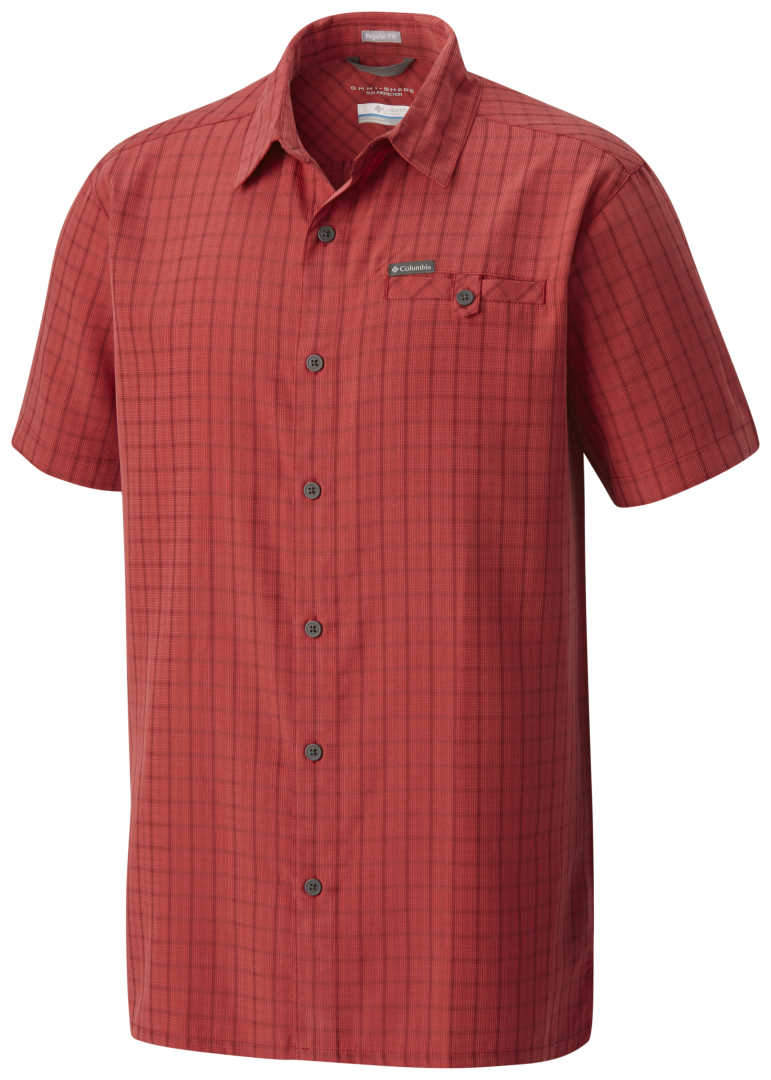 5e2df4f8122 MEN'S COLUMBIA DECLINATION TRAIL II S/S SHIRT-Red Spark Ombre ...