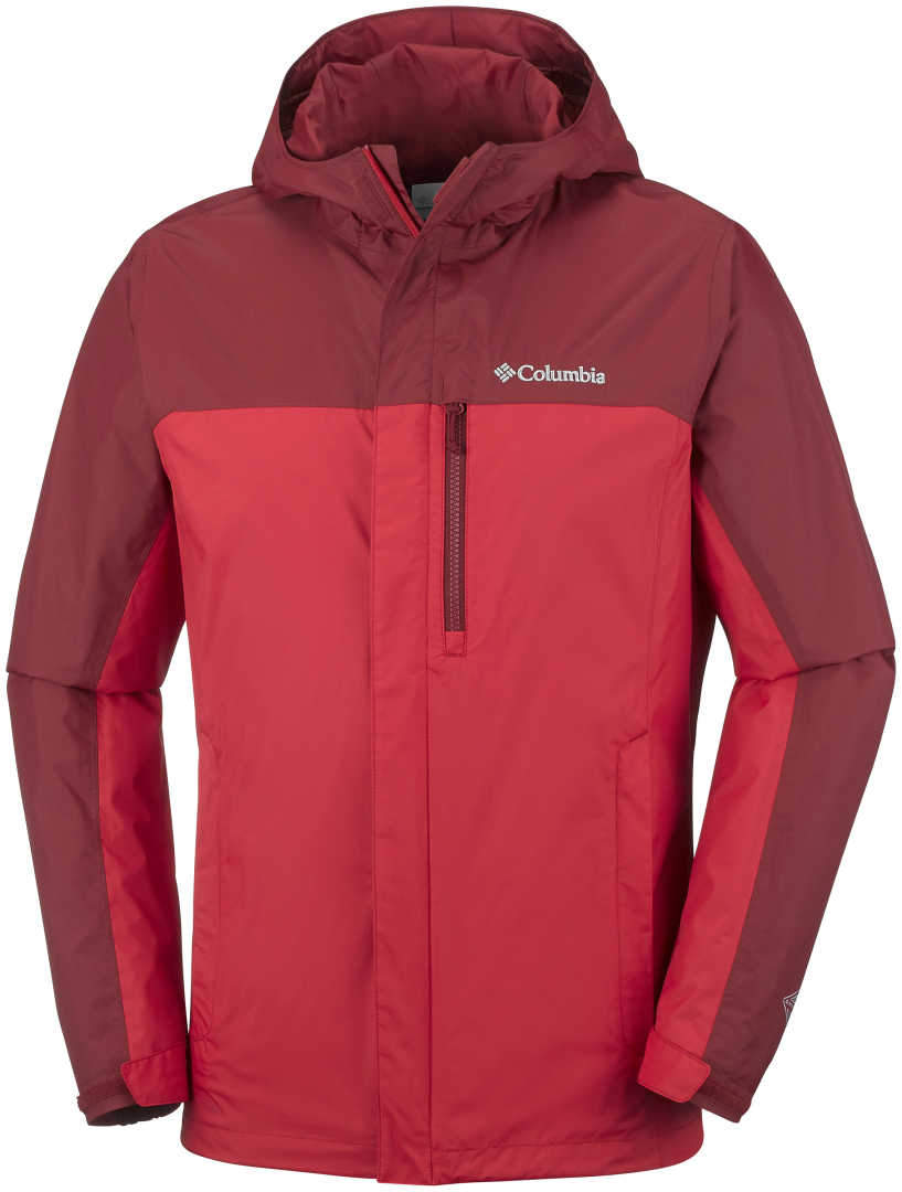 Men s Columbia Pouring Adventure Jacket-Red Spark Red Element ... 311b7c79f7