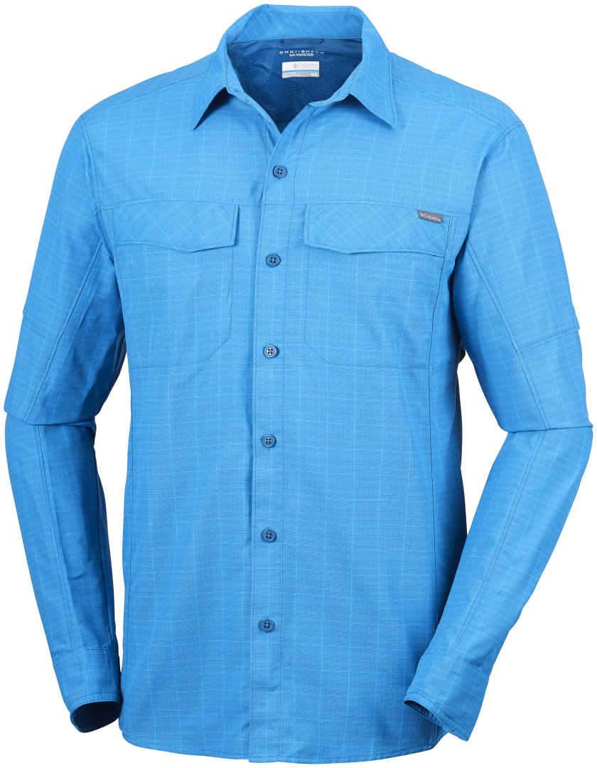 90a2cd1016c MEN'S COLUMBIA SILVER RIDGE PLAID LONG SLEEVE SHIRT-Phoenix Blue Check
