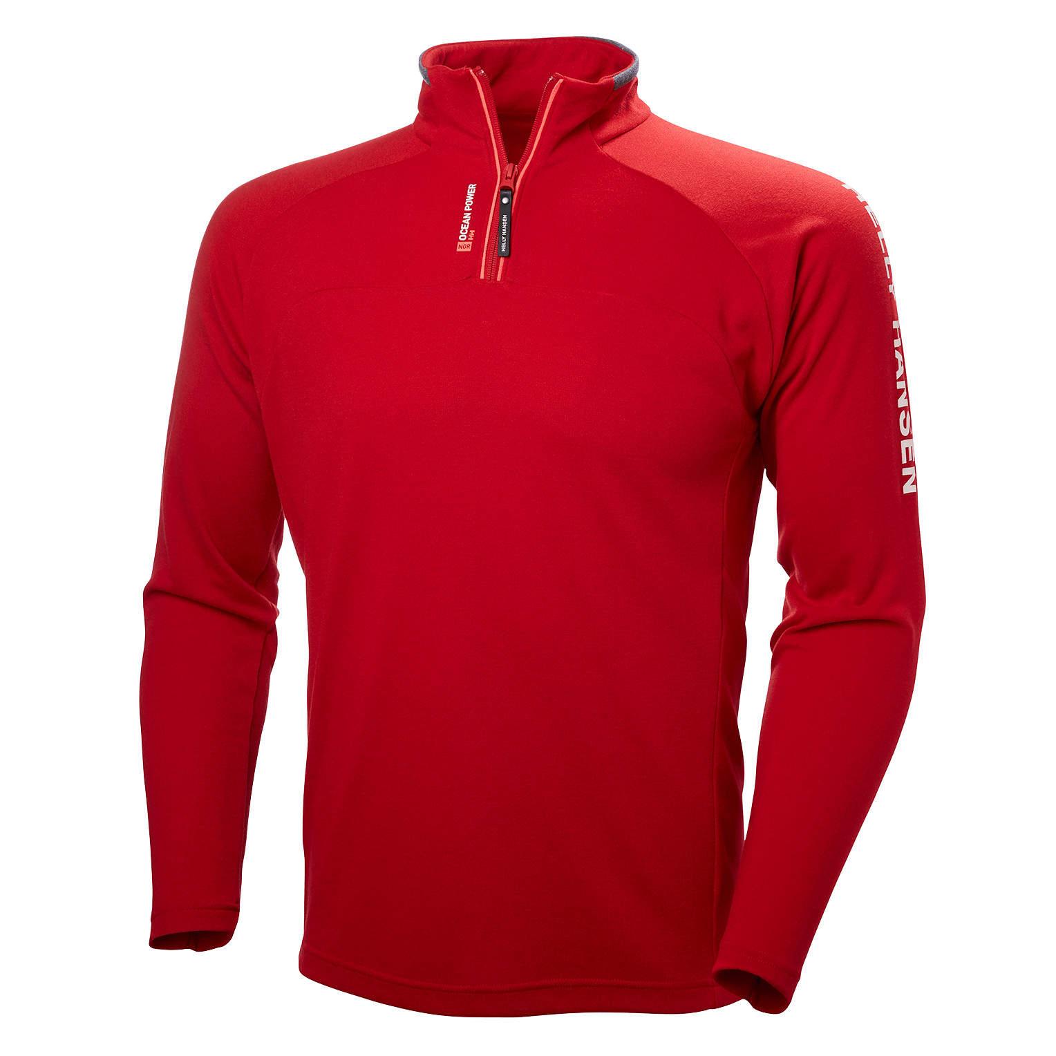men 39 s helly hansen hp 1 2 zip pullover red. Black Bedroom Furniture Sets. Home Design Ideas