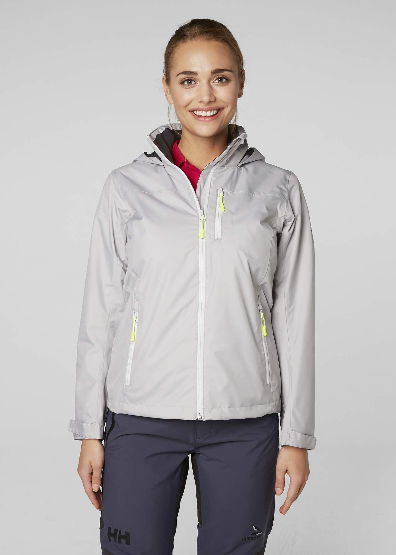 Silver Jacket Helly Women's Grey Crew Midlayer Hooded Hansen xwSgqSY8