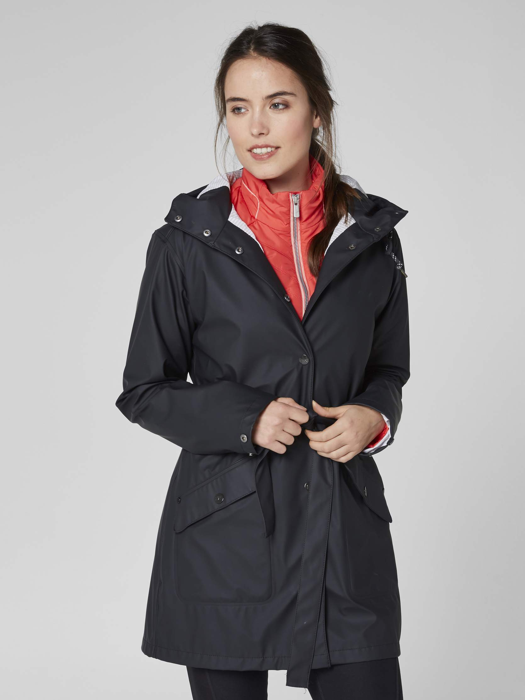 Helly hansen black kirkwall rain jacket