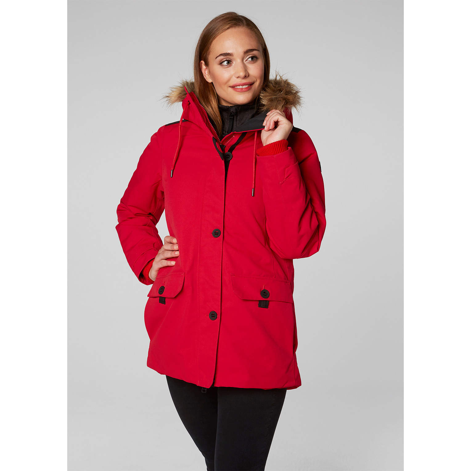 Women's Helly Hansen SVALBARD PARKA-Flag Red - Sklep internetowy ...
